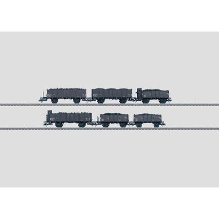 Set mit 6 Güterwagen. - Bauarten TTu + TTuf + To + Tof SNCF