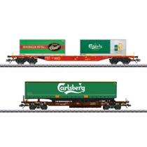 "KLV-Güterwagenset ""Carlsberg und Tuborg"""