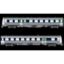 """DSB MR 4082-MRD 4282, Blå/lysblå """"via design"""", DC  DC"""