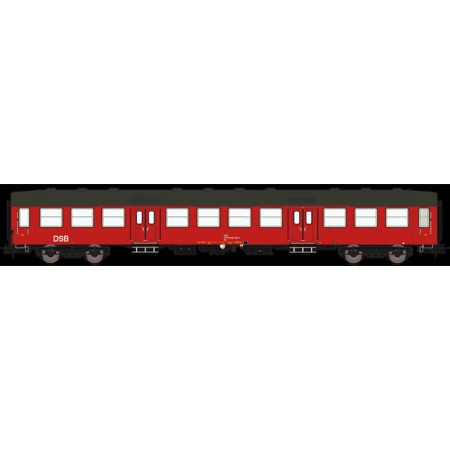 DSB Bn 50 86 20-84 901-0, Designrød,  personvogn