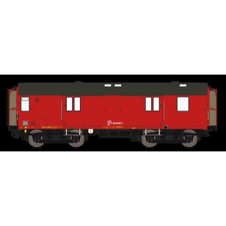 DSB Dh 50 86 92-68 019-4, Designrød,  rejsegodsvogn