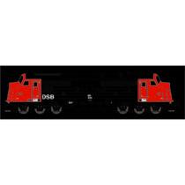 DSB MX 1033, Rød/Sort, DC m. lyd DC
