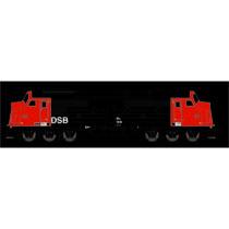 DSB MX 1018, Rød/Sort, DC m. lyd DC