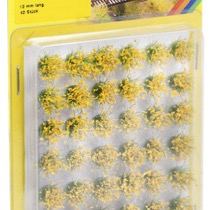 "Grass Tufts XL ""blooming"", yellow flock"