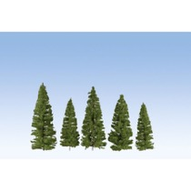 Fir Trees, dark green, 7 pieces