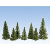 Spruces, medium green, 7 pieces, 7