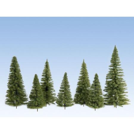 Grantræer, mellem grøn, 5 stk