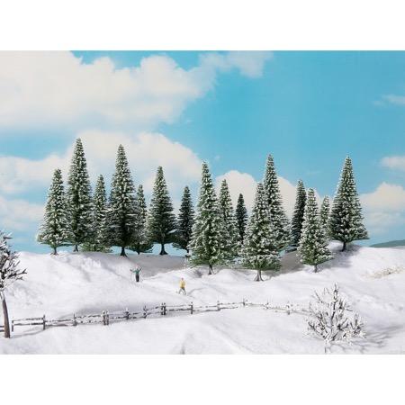 Snedækkede Grantræer