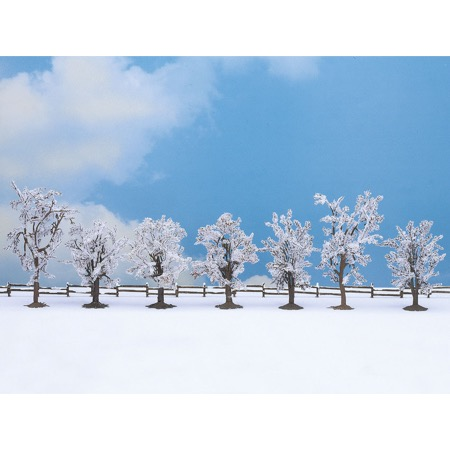 Winter trees, 7 pieces, approx. 8