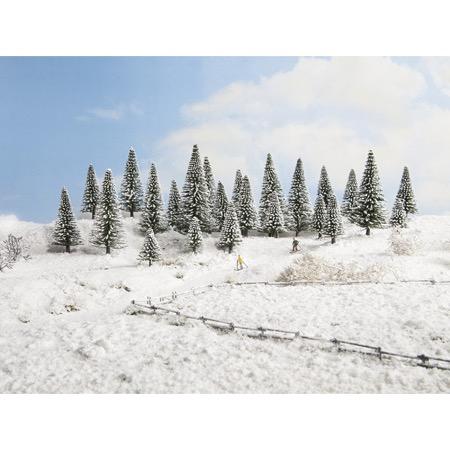 Snedækkede fyrretræer, 25 stk