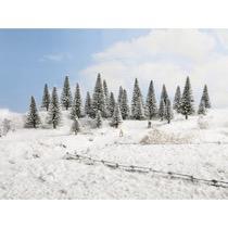 Snow Fir Trees, 25 pieces, 3.5