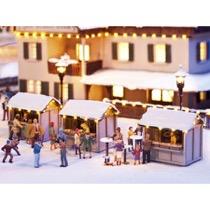 Julemarkeds boder - 3 stk Laserskåret.