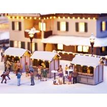 Julemarkeds boder - 3 stk. laserskårede