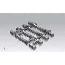 Gleisschwellen 31mm für Flexgleis mit Betonschwellen