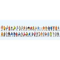 Sitzende Reisende. 48 Figuren
