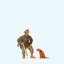 Sitzender Jäger, Hund
