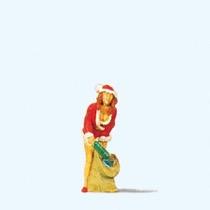 Nissepige med gavesæk