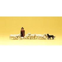 Fårehyrde m. får og hund