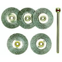 Stålbørster 22 mm  5 stk
