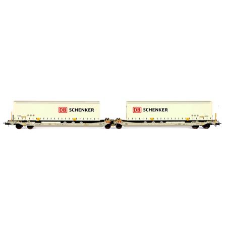 Twin car AAE Cargo DB Schenker