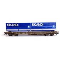 DSB Sdgmns godsvogn Litra 86 451 2 009-3 med 2 skiftelad Skandi/Maersk