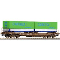 "DSB Sdgmns godsvogn Litra 86 451 2 131-5 med 2 skiftelad ""Cargex"""