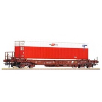 ÖBB Sdgkkmss lommevogn med 1 stk container