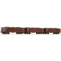 3-teiliges Set offene Güterwagen der DB DC