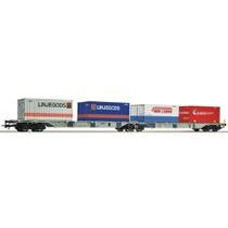 """Dobbelt containervogn """"Linjegods"""""""