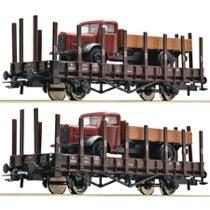 DSB TF-vognsæt med DSB lastbiler