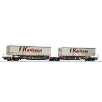 """Green Cargo T2000 vogn med """"Karlson"""" trailer DC"""