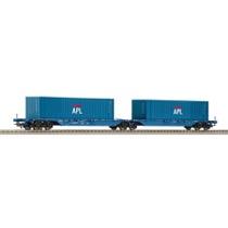 """DB Containerbærevogn, dobbelt """"APL"""""""
