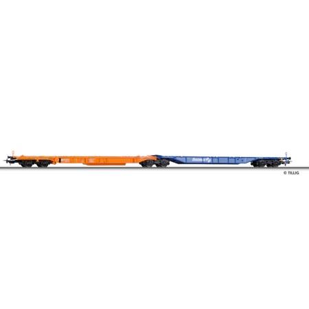 Dobbelt-lommevogn ÖBB Ökombi (orange/blå)