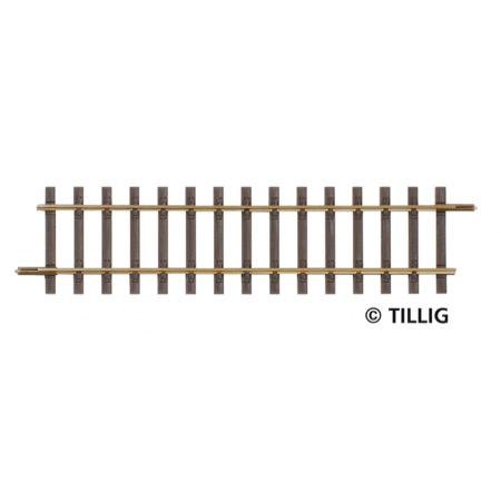 Straight track, length  114 mm