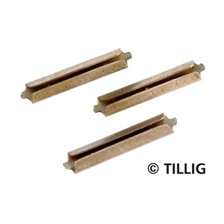 Rail joiners, nickel silver browned (25
