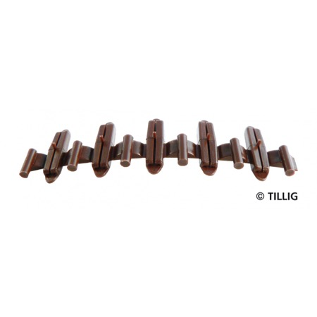 Insulating rail joiners brown (20 pieces