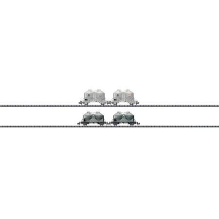 Set mit 4 Zement-Silowagen - Ucs 908, Ucs 909