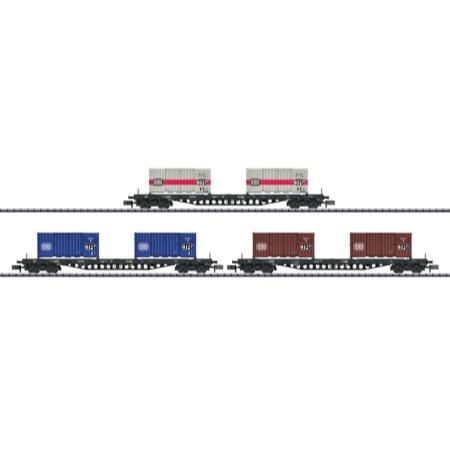 Güterwagen-Set Containertrans