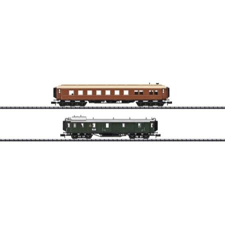 """Ergänzungs-Wagen-Set """"Bayerischer Schnellzug um 1925"""" - Pw 4ü Bay 06, WR 6ü der Mitropa"""