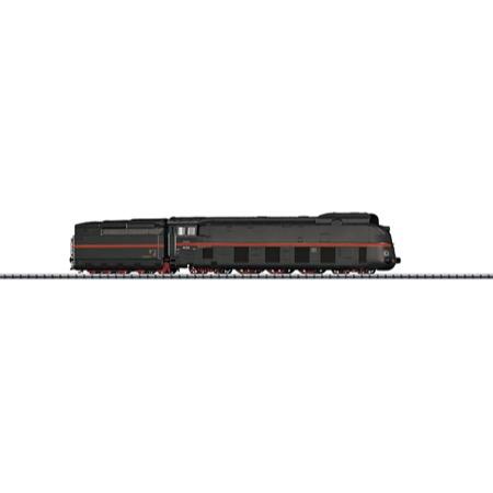 Stromlinien-Dampflokomotive mit Schlepptender. - BR 05, DRG DC