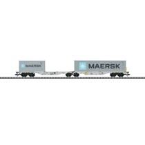 """Dobbelt containerbærevogn """"MAERSK"""""""