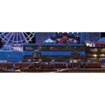 Bausatz Hafenschuppen mit 2 Halbportalwippkränen - Bausatz Hafenschuppen mit Halbportalwippkran und Kaimauer
