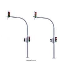 H0 Bogenampel mit Fußgängerampel und LEDs