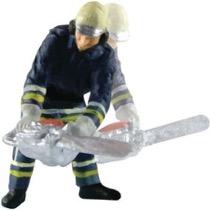 Brandmand med motorsav