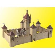 H0 Burg mit LED-Beleuchtung