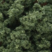 Clump foliage, dark green