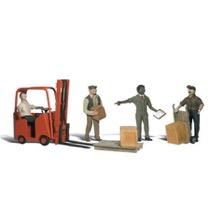 Arbejdere med gaffeltruck